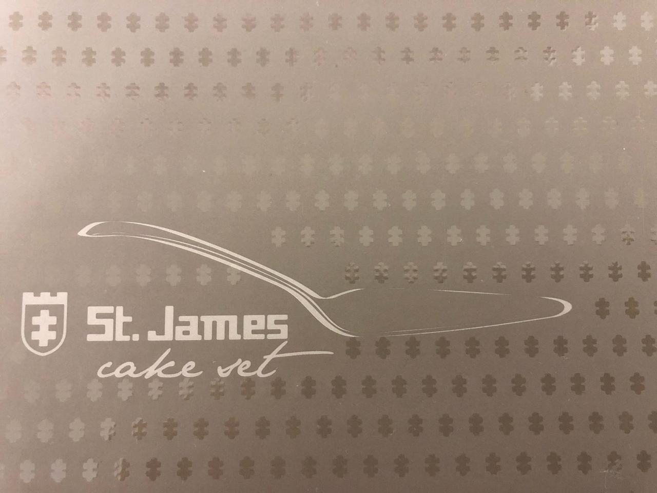 Jogo para Bolo em Prata com 1 Espatula e 6 garfos - Serenity - St James