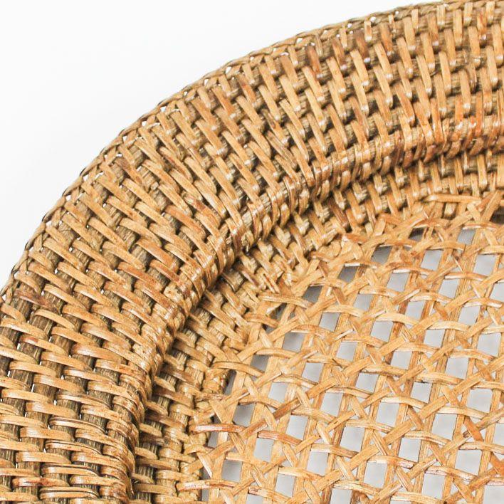 Kit com 02 Sousplat em Rattan PAYA 32cm