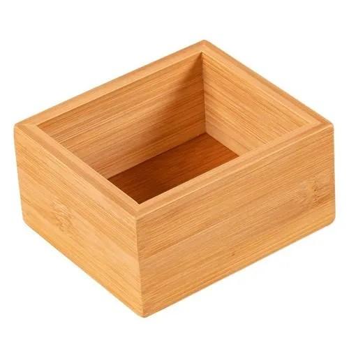 Organizador de Quadrado em Bambu (11 x 9,5cm)
