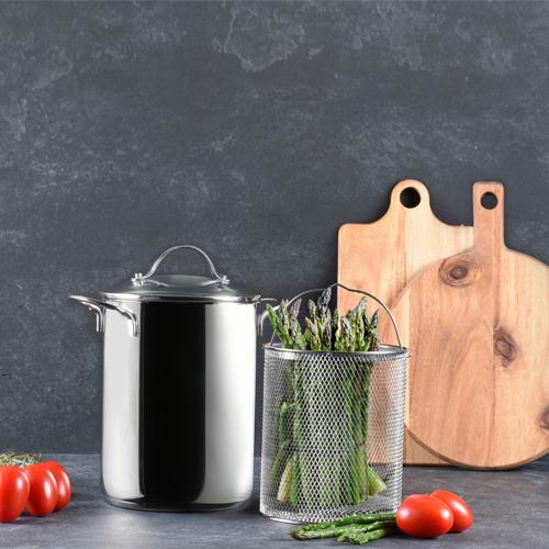 Panela para Pasta em Aço Inox 4L - Bialetti