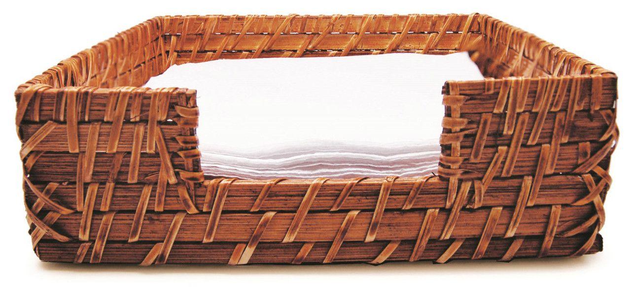 Porta Guardanapo Rattan  18cmx18cmx6,5cm - Tyft Organic
