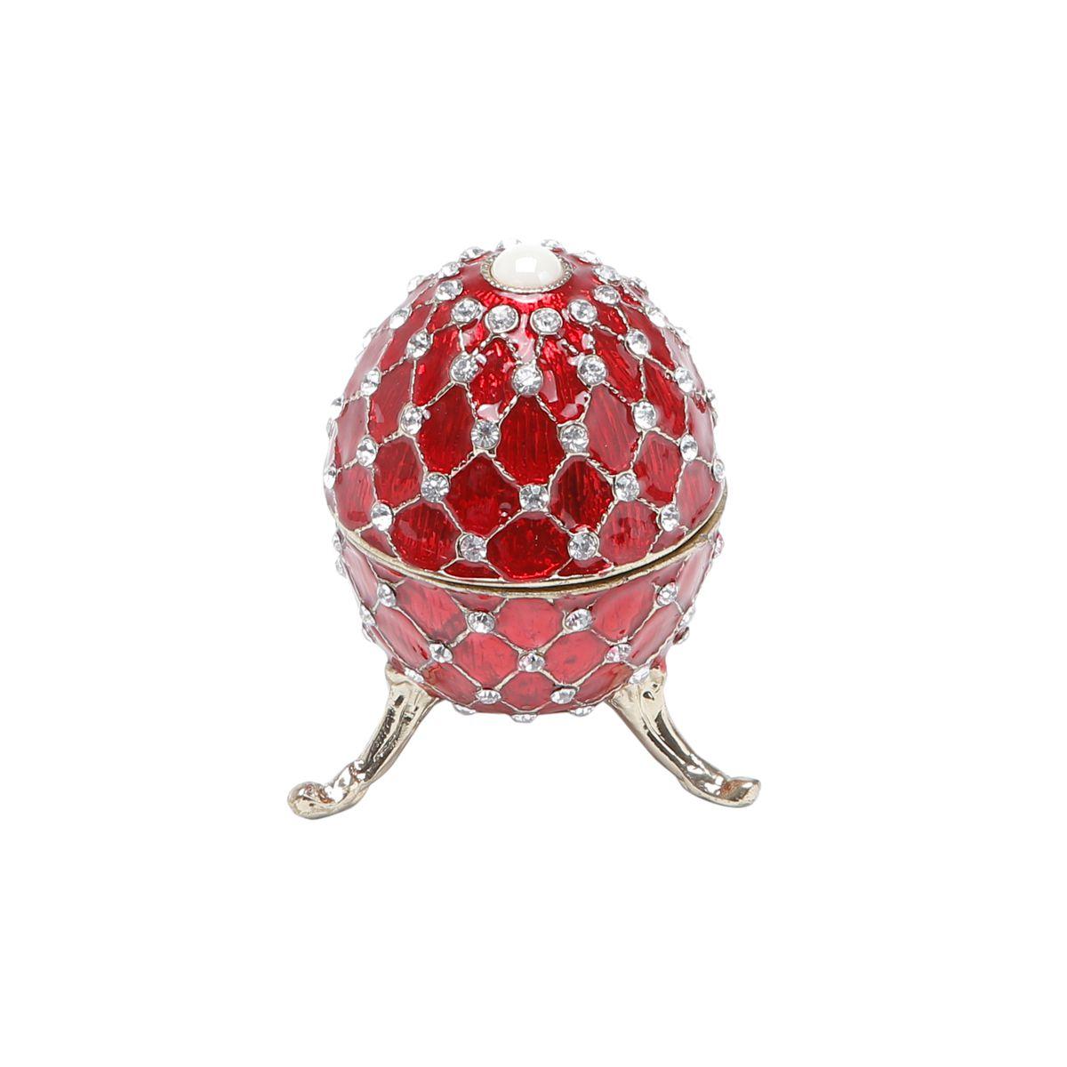 Porta Joias Zamac Oval Faberge 10x6x6cm