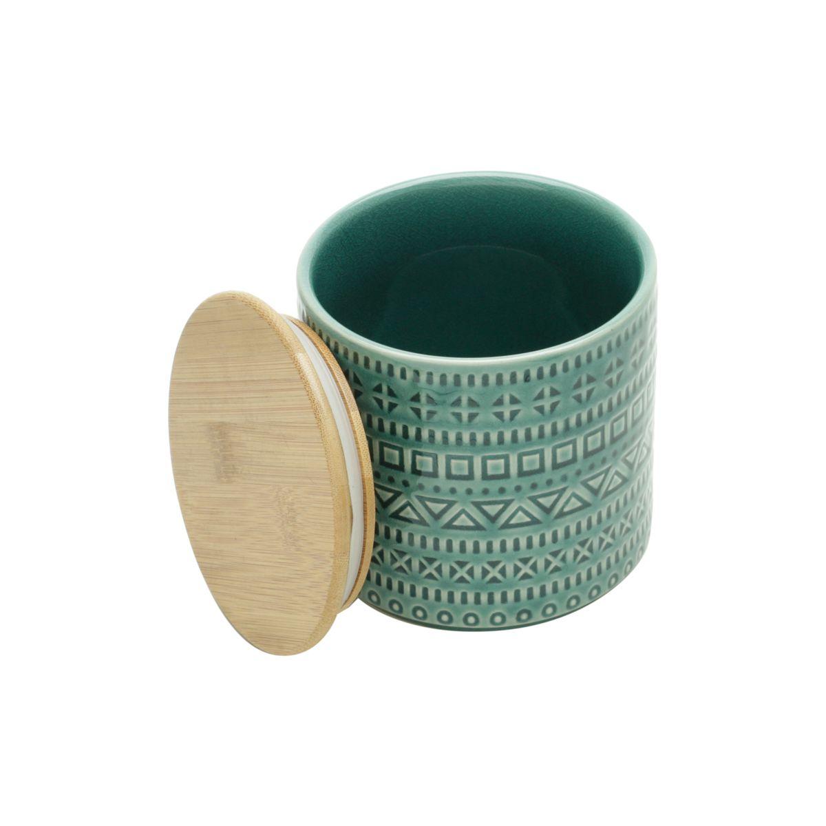 Pote Cerâmica Decor Aztec Verde