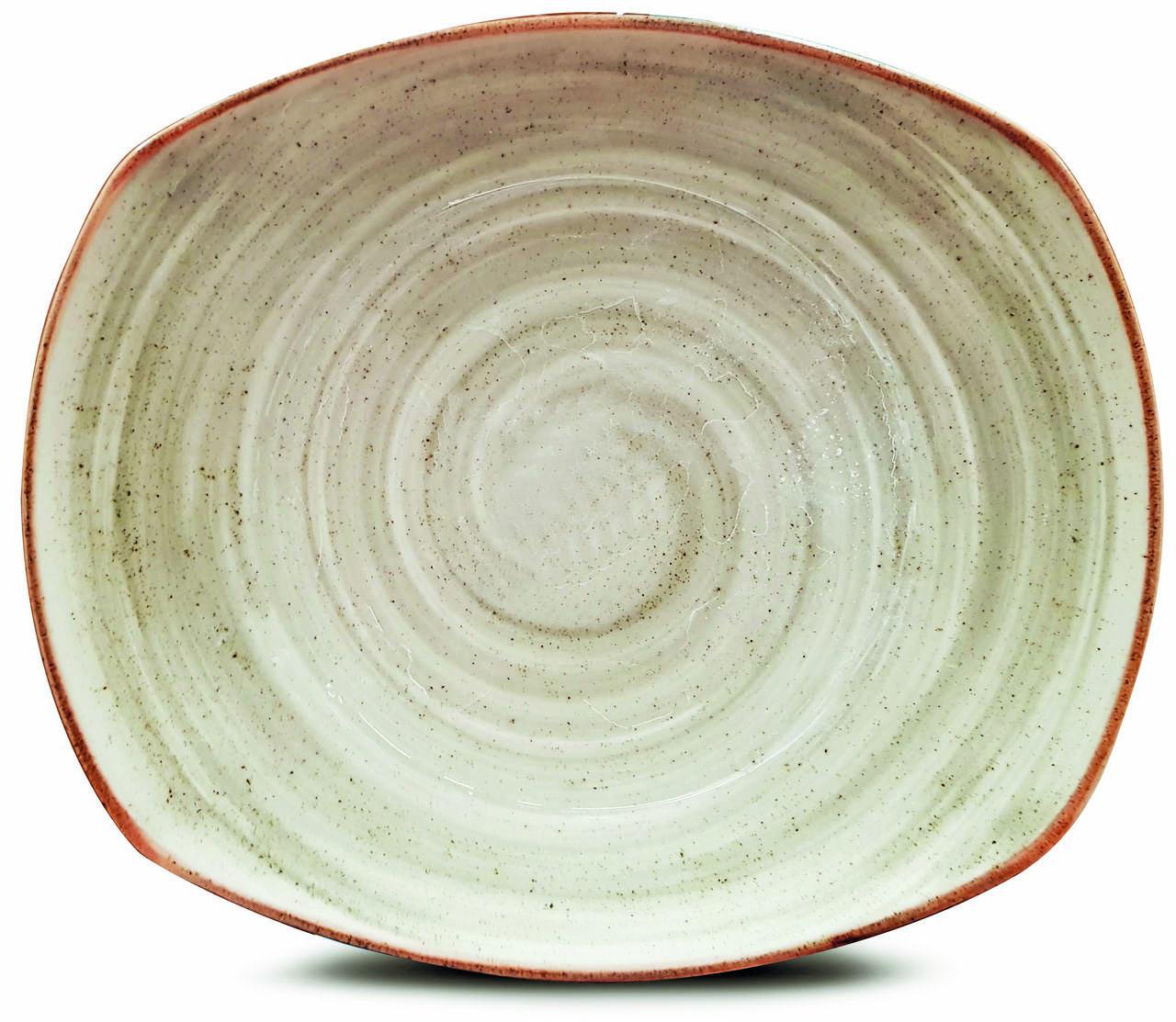 Prato com Bowl Raso Retangular Artisan