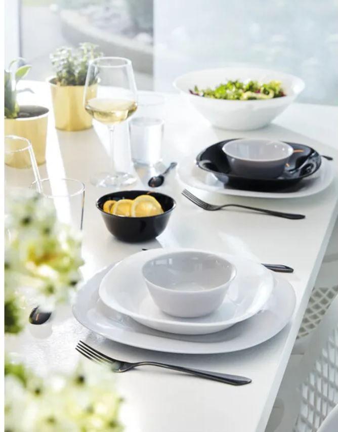 Saladeira/Bowl Carine Vidro Branco 27CM 2,4L