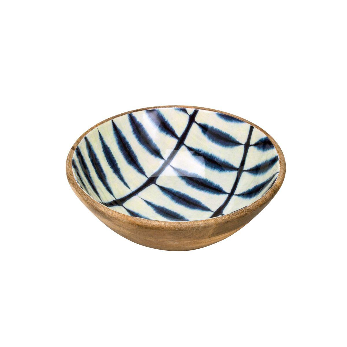 Saladeira de Madeira Blue 30x11cm