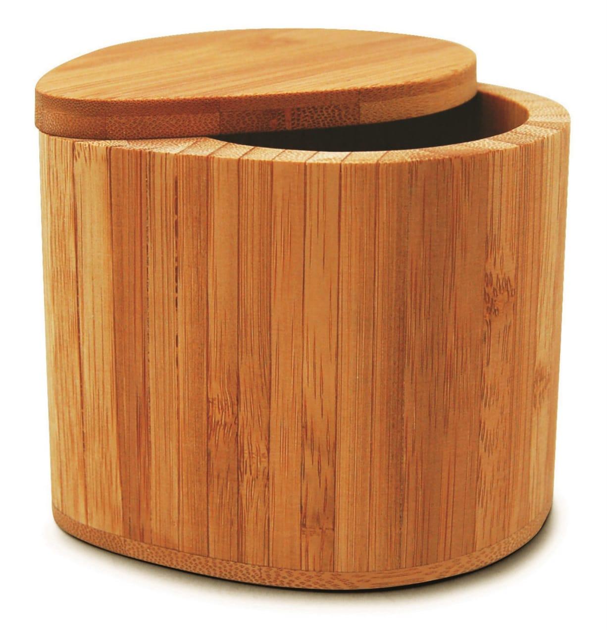 Saleiro de Bambu com tampa (10cm) - Tyft