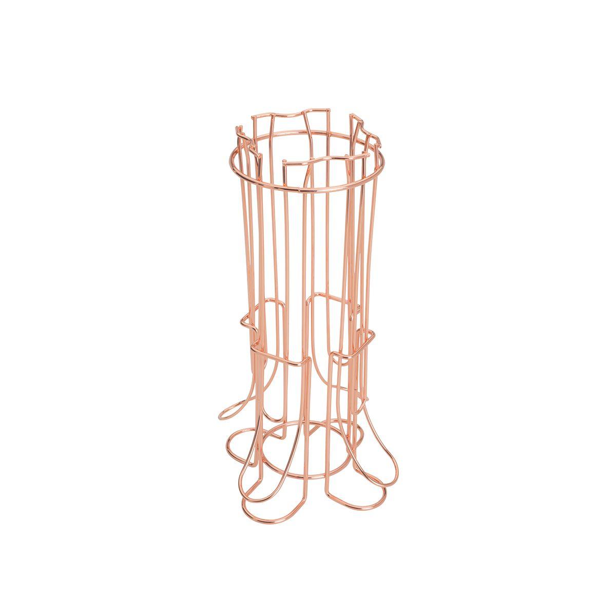 Suporte para 36 Capsulas de Café Nespresso de Ferro Cromado Rose 14,5x29cm