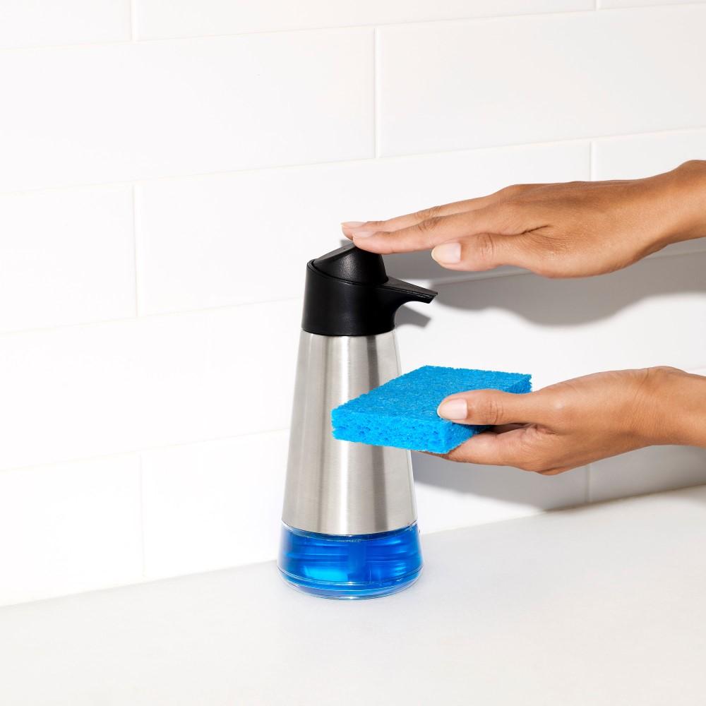 Suporte para Detergente em Aço Inox 445ml OXO