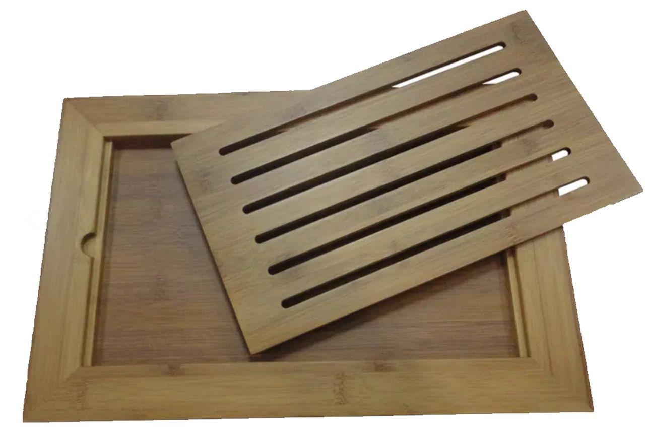 Tabua Pão em Bambu 37x24cm