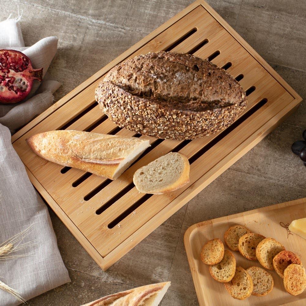 Tábua para pão (Migalheira) em Bambu 37cm - Yoi