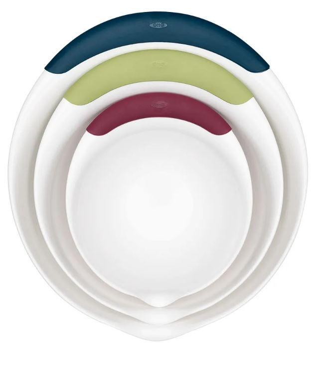 Conjunto de 03 Tigelas de Plástico (1,5L, 3L e 4,7L) - OXO