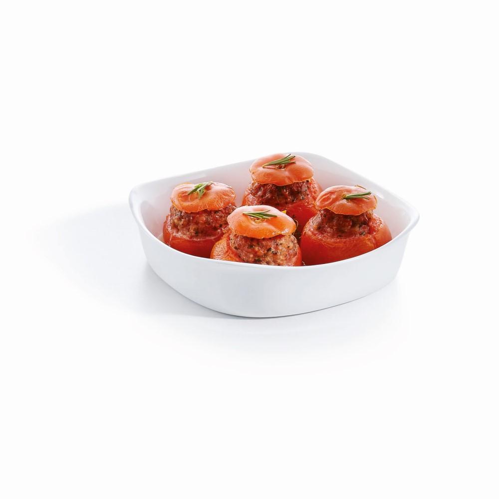 Travessa Quadrada de Vidro Temperado Branca Smart Cuisine (20cm) - Luminarc