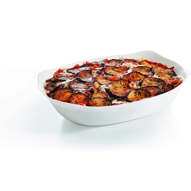 Travessa Retangular de Vidro Temperado Branco Smart Cuisine 37cm - Luminarc