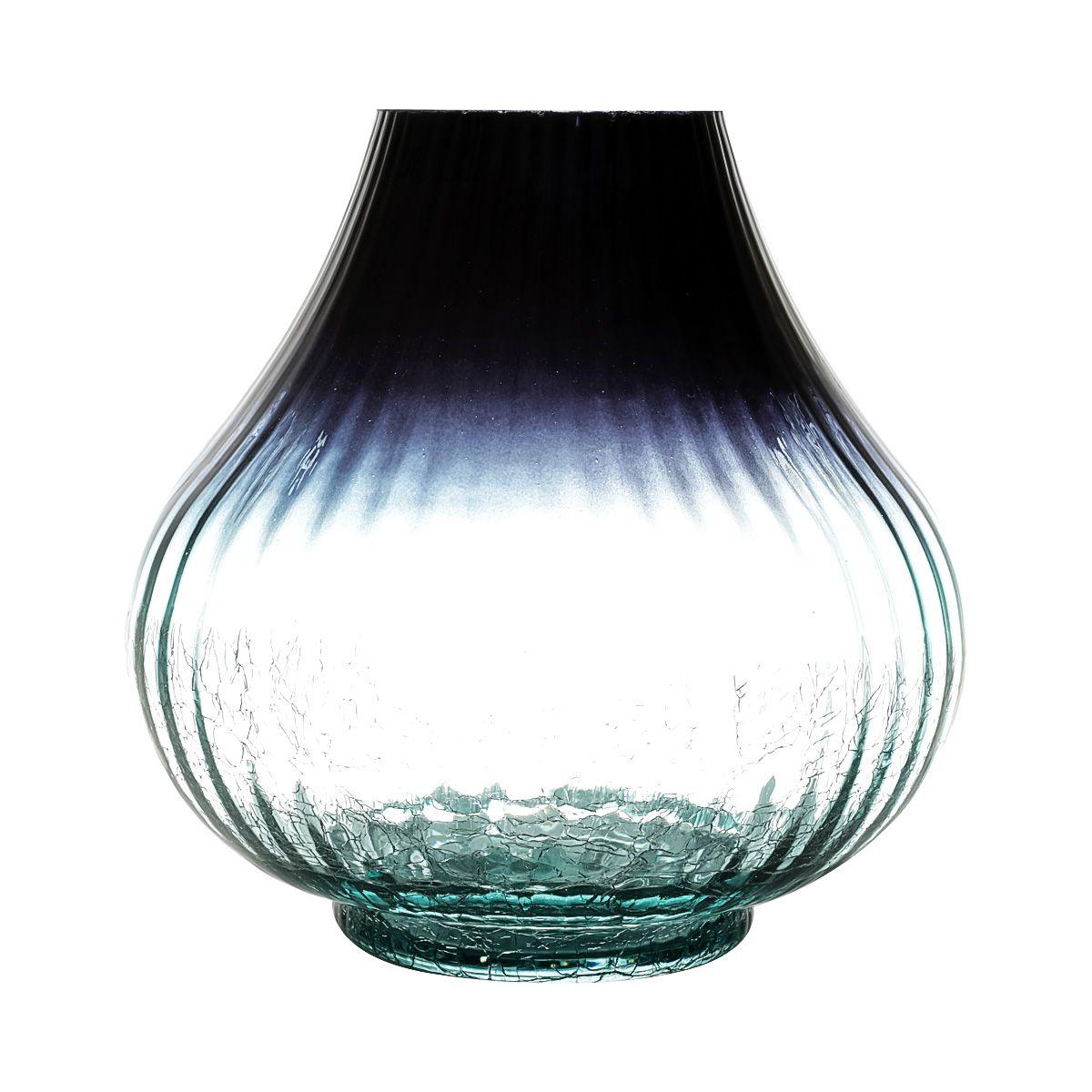 Vaso Azul de Vidro 20x20cm