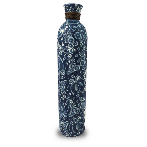 Vaso Decorativo Ceramica Azul 45X10X10