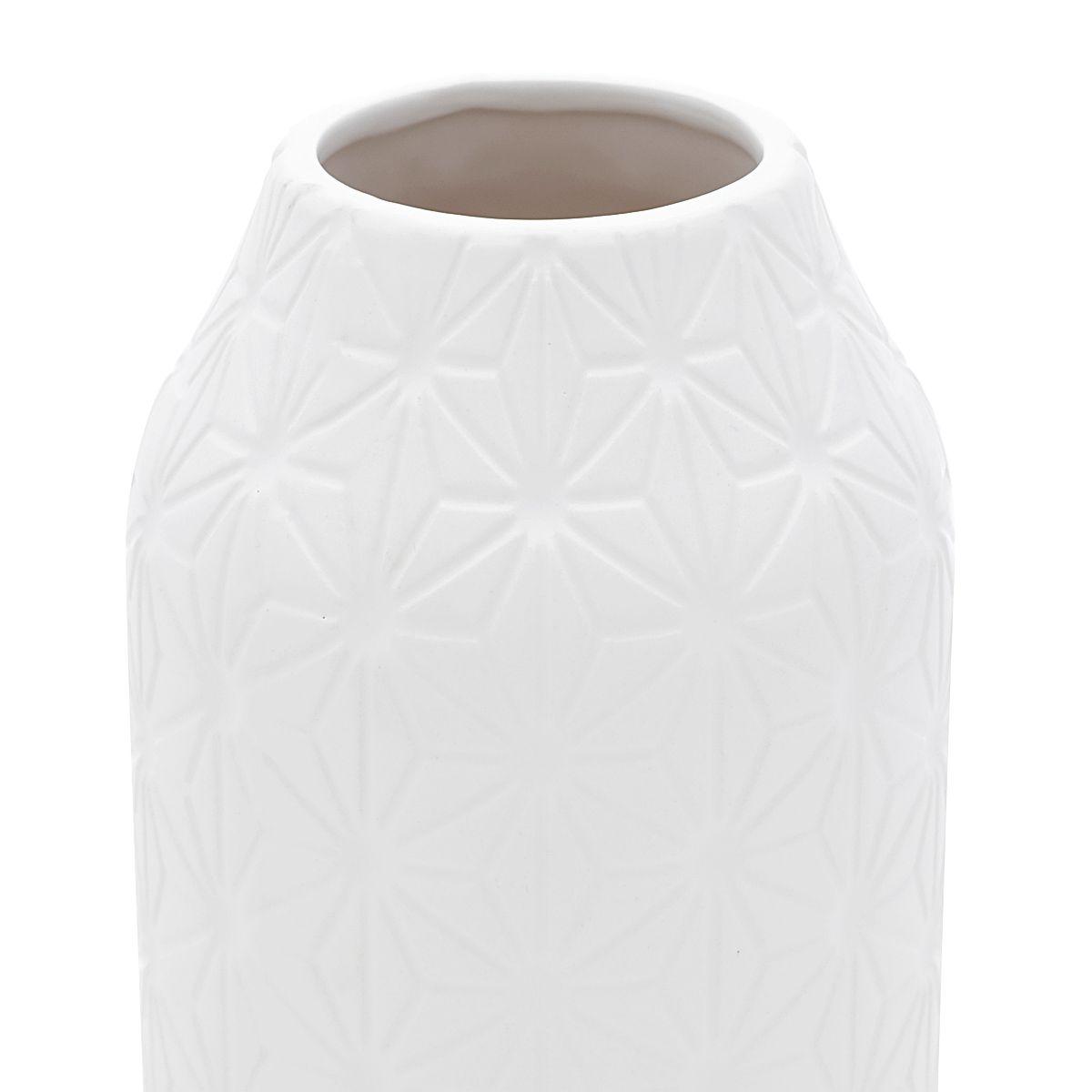 Vaso Decorativo Cerâmica Branco 11x23cm
