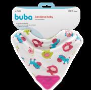 Bandana Baby Zoo com Mordedor Rosa - Buba