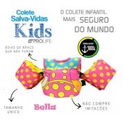 Colete Salva-Vidas Infantil Homologado - Bella