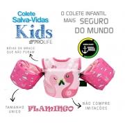 Colete Salva-Vidas Infantil Homologado - Flamingo