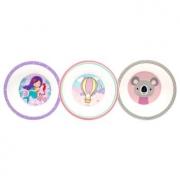 Kit com 3 Bowls (Coala, Sereia e Balão) - Clingo