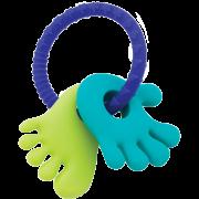 Mordedor de Silicone Mãozinha e Pezinho Azul - Buba