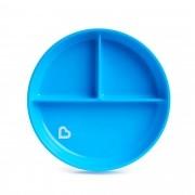 Prato com Ventosa e Divisórias Azul - Munchkin