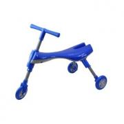 Triciclo Dobrável Azul e Cinza - Clingo