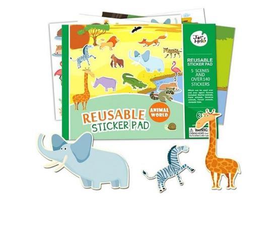 Adesivos Reutilizáveis - Mundo Animal