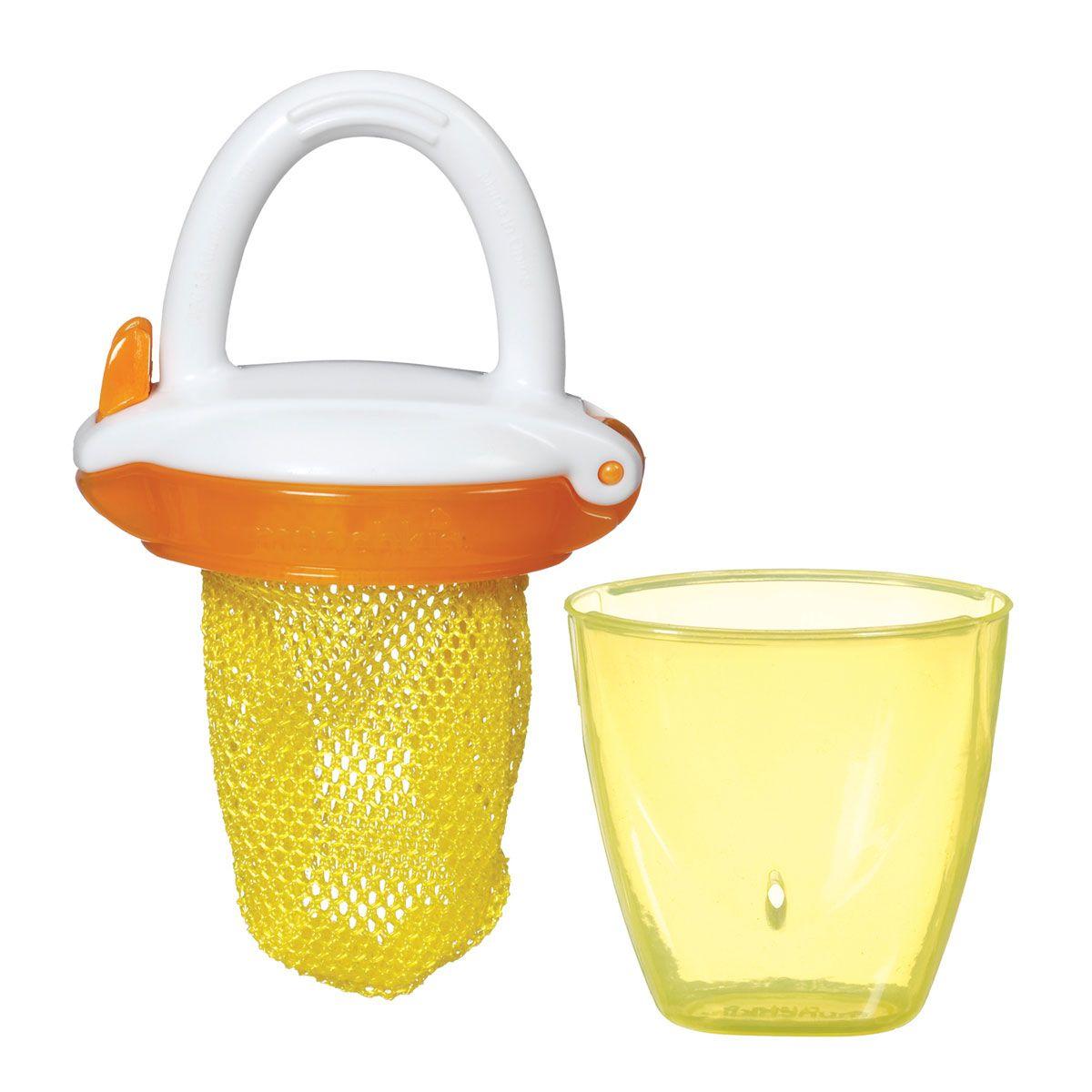 Alimentador Amarelo e Laranja com Tampa - Munchkin