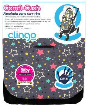 Almofada para Carrinho Comfi-Cush Colors Stars - Clingo