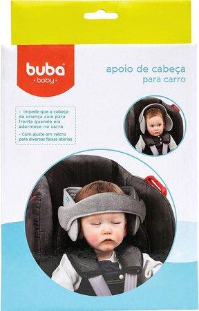 Apoio de Cabeça para Assento de Carro Cinza - Buba