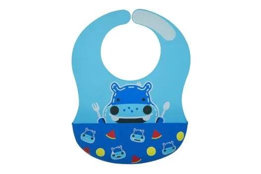 Babador em Silicone Cobertura Total Hipopótamo
