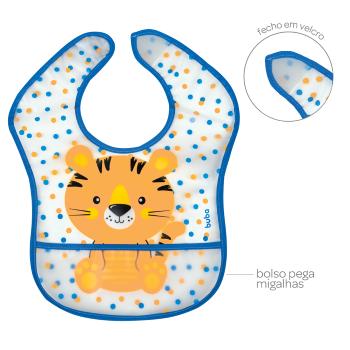 Babador com bolso Tigrinho - Buba