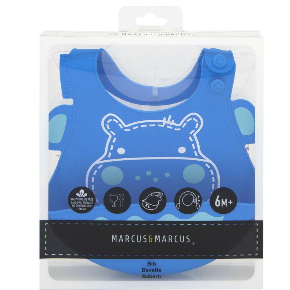 Babador em silicone Hipopótamo