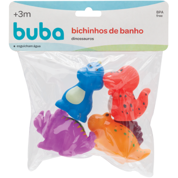 Bichinhos para Banho Dino - Buba
