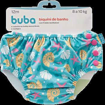 Biquini Reutilizável Conchas Tam. P - Buba