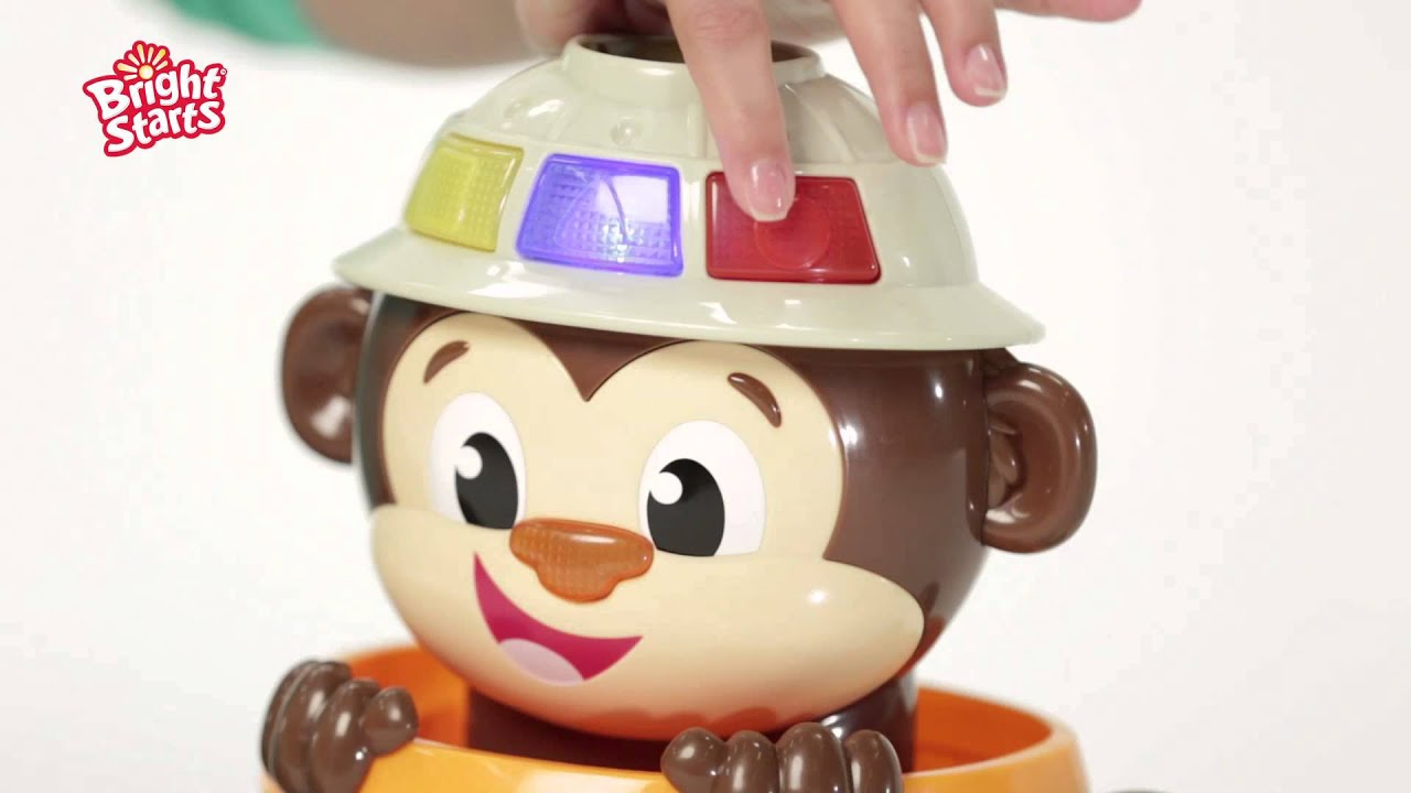Brinquedo interativo Hide N Spin Monkey - Bright Starts