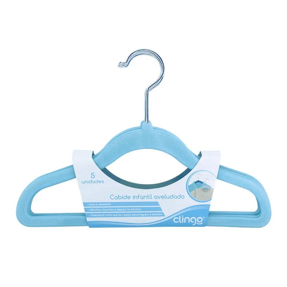 Cabide Aveludado Azul - Clingo