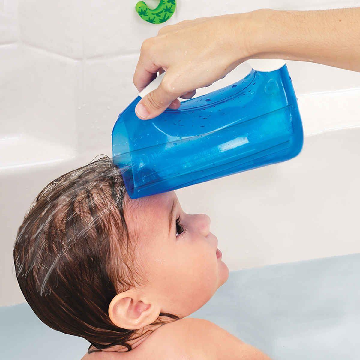 Caneca Macia Para Banho Azul