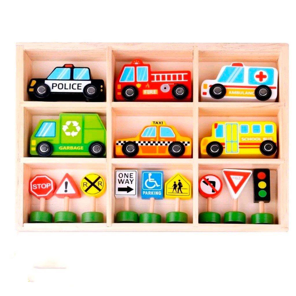 Carrinhos e Placas de Trânsito