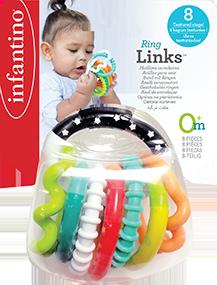 Chocalho Interativo com Anéis Texturizados - Infantino
