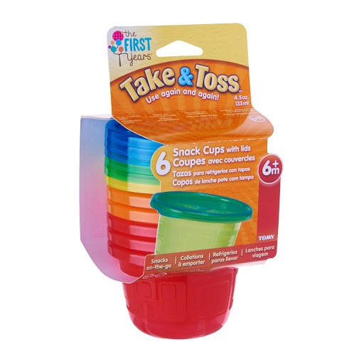 Conjunto de 6 Potes com Tampa Take & Toss 133ml - First Years