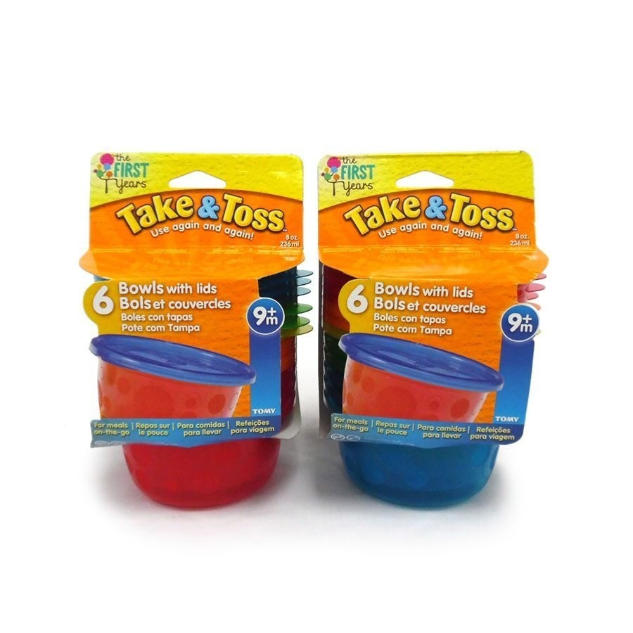 Conjunto de 6 Potes com Tampa Take & Toss 236ml - First Years