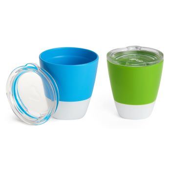 Conjunto de Copos com Tampa Azul e Verde - embalagem com 02 unidades - Munchkin