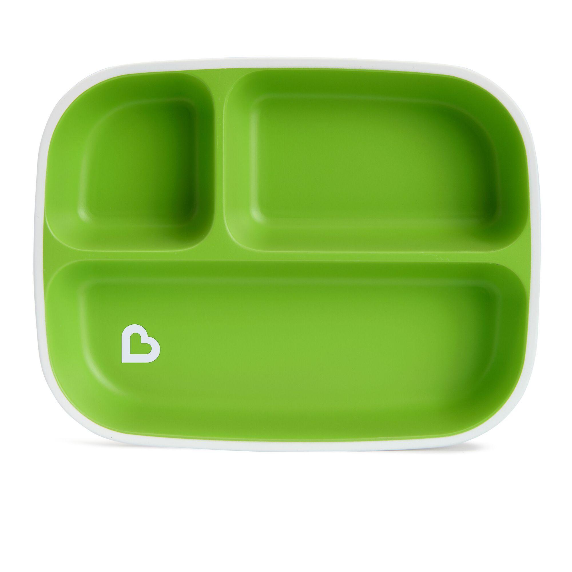 Conjunto de Pratos com Divisórias Azul e Verde - 02 unidades