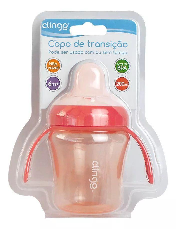 Copo de Transição Rosa - Clingo