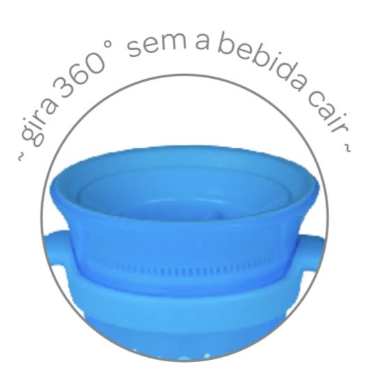 Copo de treinamento 360 com Alça Azul - Buba