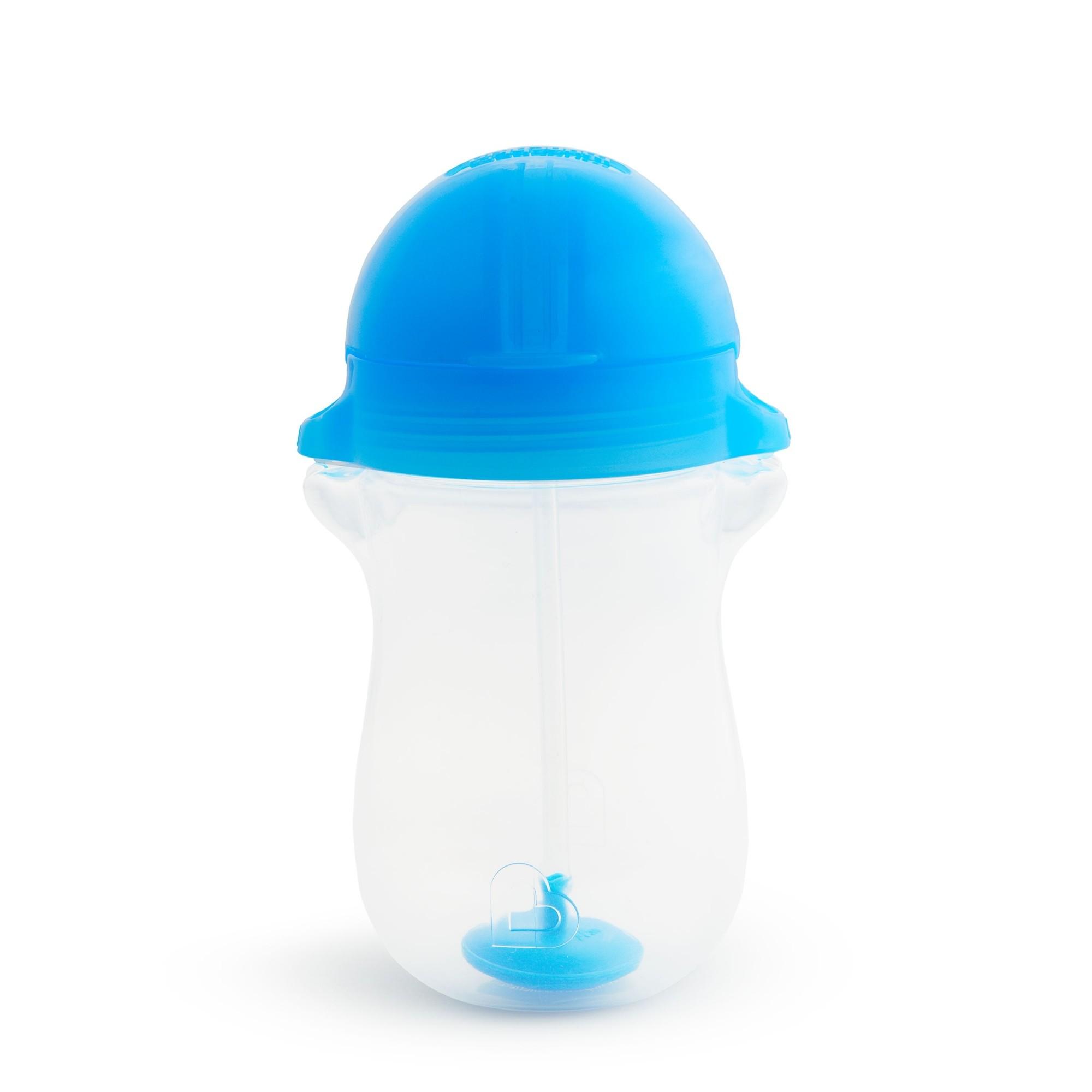 Copo Grande com Canudo Click Lock Azul - Munchkin