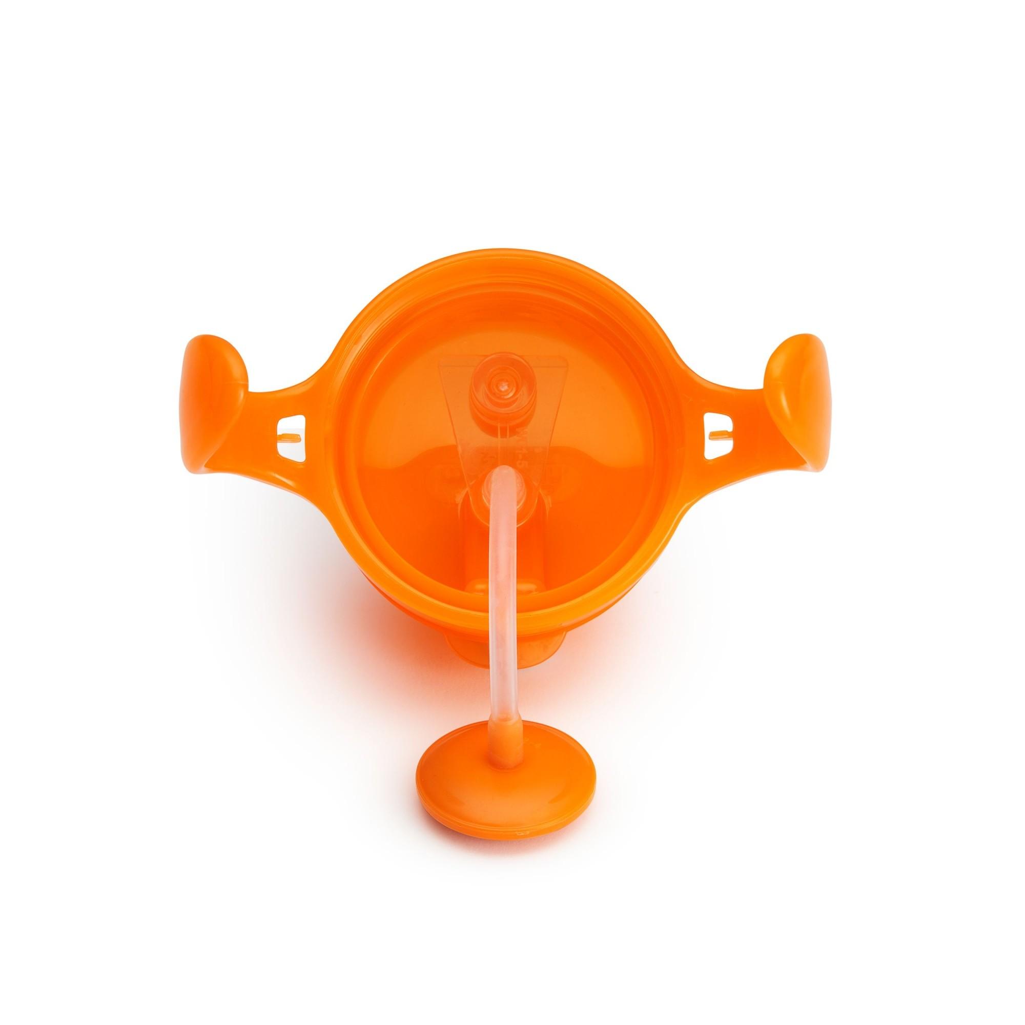 Copo Treinamento com Canudo Click Lock Laranja - Munchkin